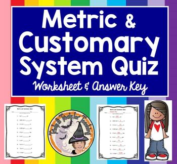 Metric and Customary System Converting Measurement Convers