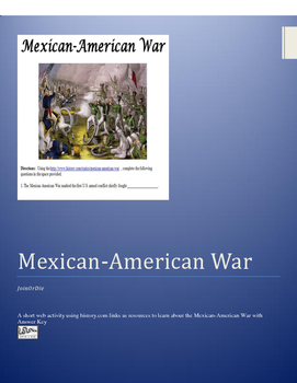 Mexican-American War WebQuest