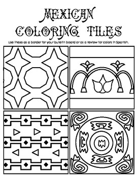 Mexican Coloring Tiles