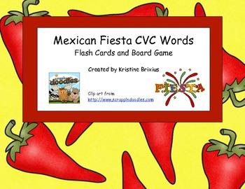 Mexican Fiesta CVC Words