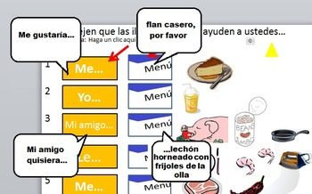 Mexican restaurant product combo:  Listening + reading exe