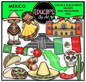 Mexico Clip Art Bundle {Educlips Clipart}
