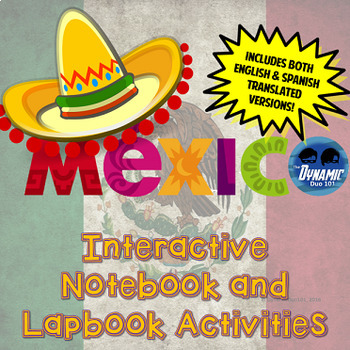 Mexico Interactive Notebook and Lapbook Activities {Englis