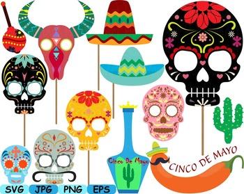 Mexico Props Fiesta Clipart Mexican birthday cinco de mayo