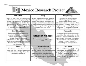 Mexico Research Project Tic-Tac-Toe Board