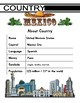Mexico Themed Activity Packet / Worksheet Set + Flashcards