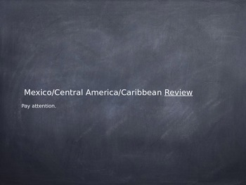 Mexico/Central America/The Caribbean