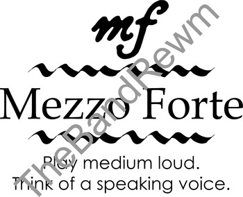 Mezzo-Piano Music Poster - Music Room Posters - Dynamics