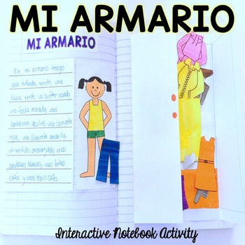 Mi Armario {Interactive Notebook Activity - Clothing}