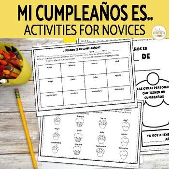 Mi  Cumpleaños Es...Spanish Birthday Speaking Activity