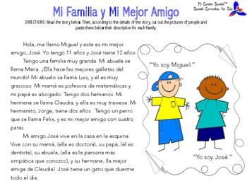 Mi Familia y Mi Mejor Amigo (Story & Activity)