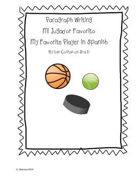 Mi Jugador Favorito My Favorite Player Paragraph Writing (