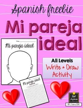 Spanish Valentine's - Mi Pareja Ideal - Writing Descriptions