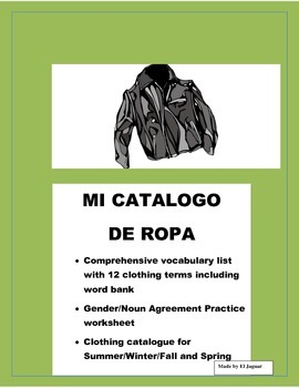 La Ropa-Clothing in Spanish- Fashion Catalog - Review Colo