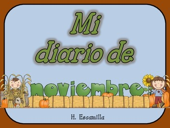 Mi diario de noviembre- My November Journal * Both Spanish