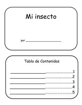 Mi insecto blank book