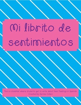Mi librito de sentimientos/My Feelings Booklet