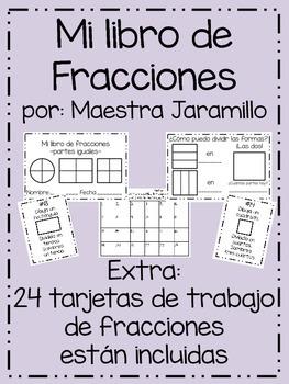 Mi libro de fracciones - Spanish Fraction Booklet