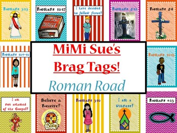 MiMi Sue's Brag Tags (Roman Road to Salvation) 12 Designs/