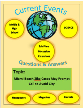 Current Events Science: Miami Beach Zika Cases May Prompt