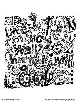 Micah 6:8 Doodle Verse