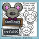 Mice Feelings Faces and Labels Clip Art Set - Chirp Graphics