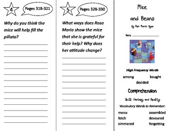 Mice and Beans Trifold - Treasures 2nd Grade Unit 6 Week 1 (2009)