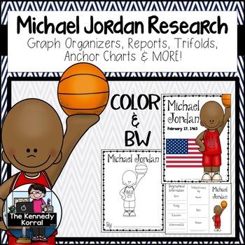 Michael Jordan Biography Research Bundle {Report, Trifold,