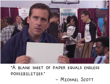"""The Office: """"A blank sheet of paper equals endless opportu"""
