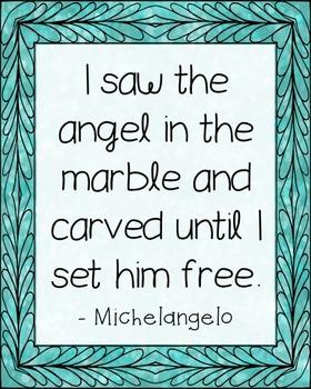 Michelangelo Quote Poster