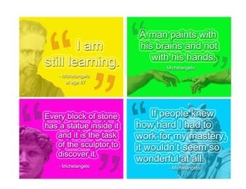 "Art Room: Artist Voices Inspirational Posters ""Michelangelo"""
