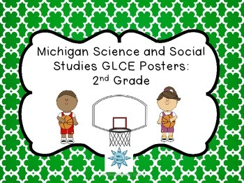 Michigan Science and Social Studies GLCE Posters: 2nd Grade
