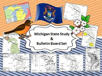 Michigan State Study & Bulletin Board Set