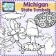 Michigan state symbols clipart