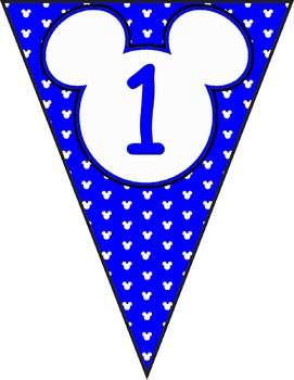Mickey Banner Decorations **** Blue