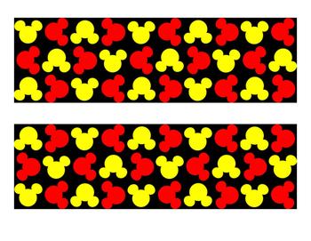 Mickey Bulletin Board Border