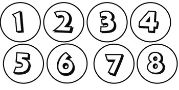 Mickey Font Calendar Numbers