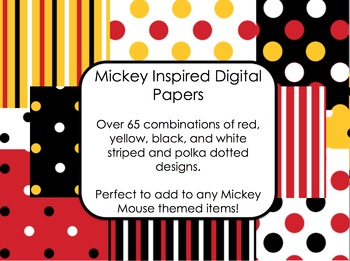 Mickey Inspired Digital Paper