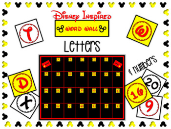 Mickey Letter & Number Cards