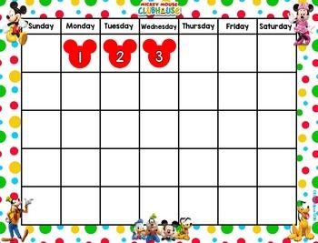 Mickey Mouse Calendar set
