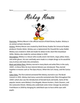 Mickey Mouse - Full history facts information questions le