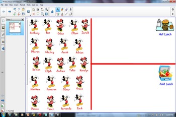 Mickey Mouse Smartboard lunch choice
