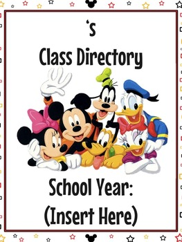 Mickey Mouse Themed Class Directory