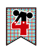 Mickey Theme Bunting ~ Group Numbers