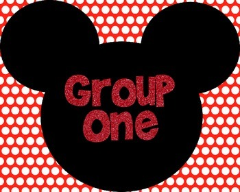 Mickey Themed Large Group Numbers 1-6