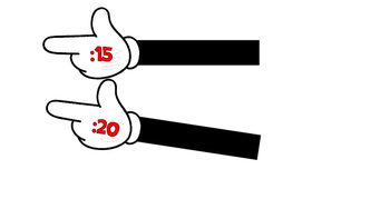 Mickey Themed Minute Clock Hands