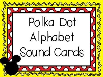 Polka Dot Letter Cards