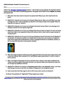"Microbiology Homework Assignment Based on Radiolab ""Parasi"