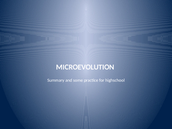 Microevolution elements  summary