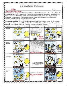 Microevolution worksheet